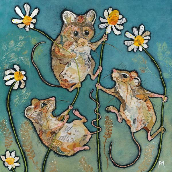 Mice and Flowers Art Print