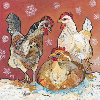 Three French Hens - Medium Print