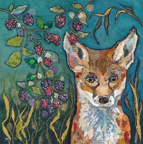 Fox in Brambles - Embellished Print