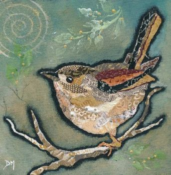 Wren on Sage - Small/Med Print