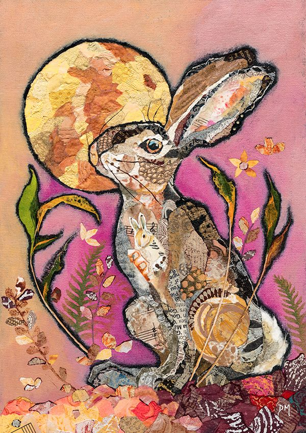 *NEW* Raspberry Moonlight - Print of a hare & golden moon