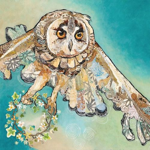 *NEW* A Gift for Athene- X Large Print of an owl carrying an ivy garland