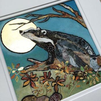 Badger's Moonwish - Embellished Print