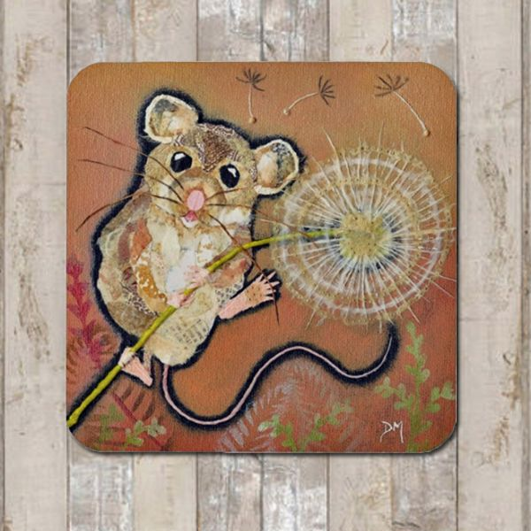 Mouse and Dandelion Coaster Tablemat Placemat