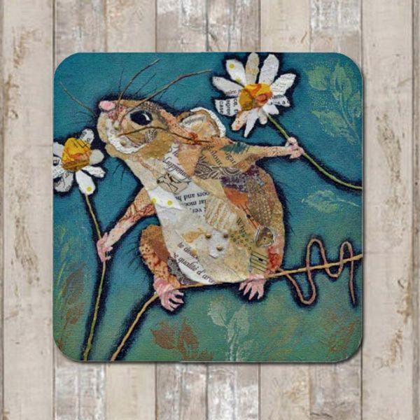 Mouse and Flower Coaster Tablemat Placemat