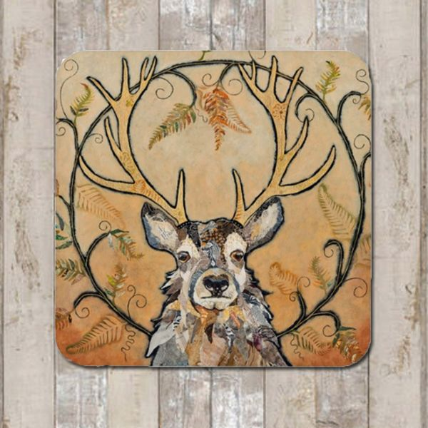 Red Deer Stag Coaster Tablemat Placemat