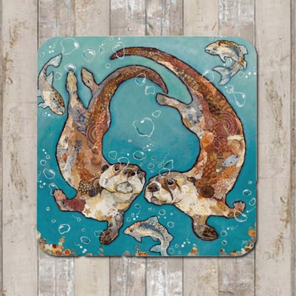 Otters Swimming Coaster Tablemat Placemat