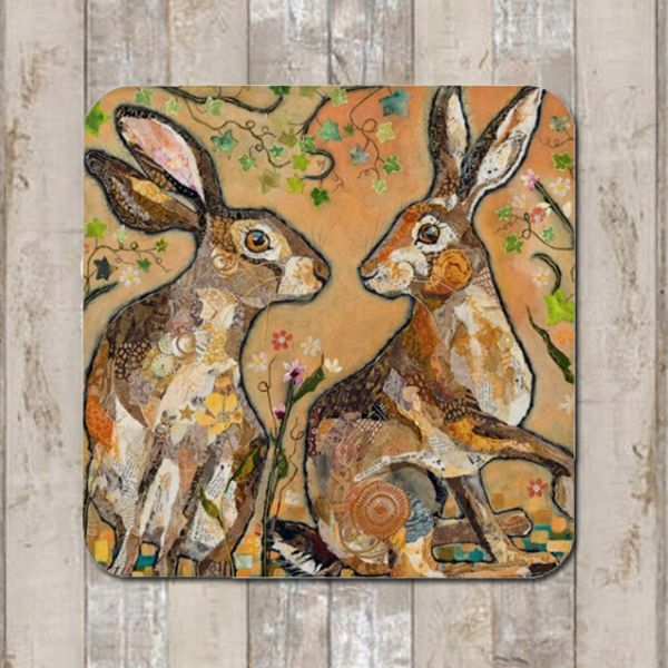 Hare's Looking at You Coaster