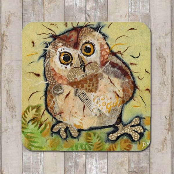 Owl Baby Coaster Tablemat Placemat