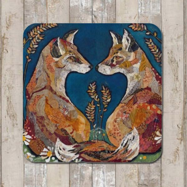 Fox Love Coaster Tablemat Placemat