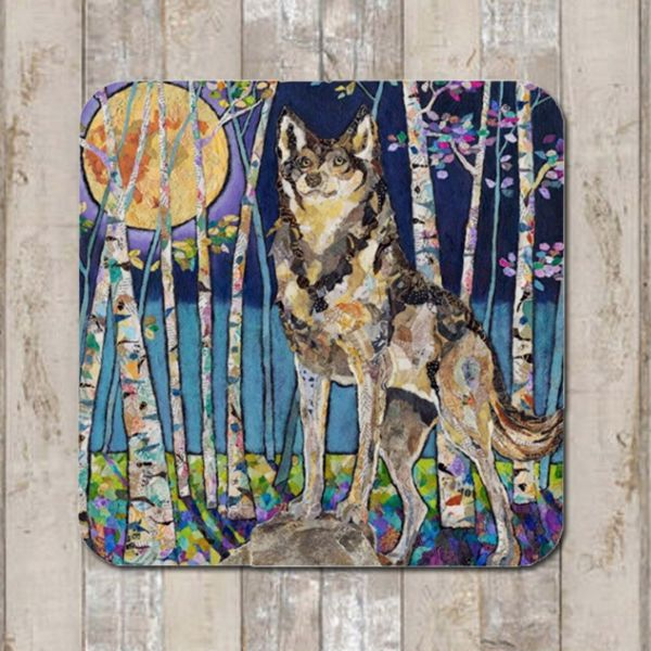 Wolf and Moon Coaster Tablemat Placemat