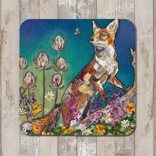 Fox on Log Coaster Tablemat Placemat
