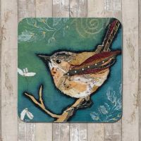 Wren on Aqua Tableware