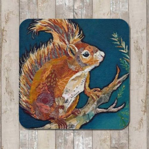 Wee Red Squirrel Coaster