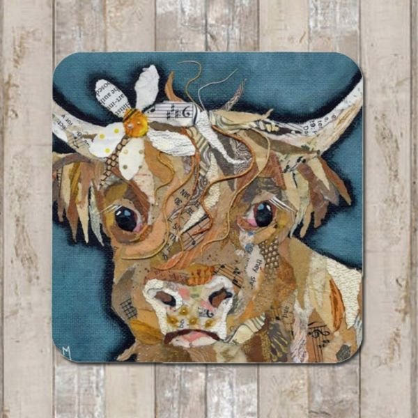 Florrie  Highland Cow Coaster Tablemat Placemat