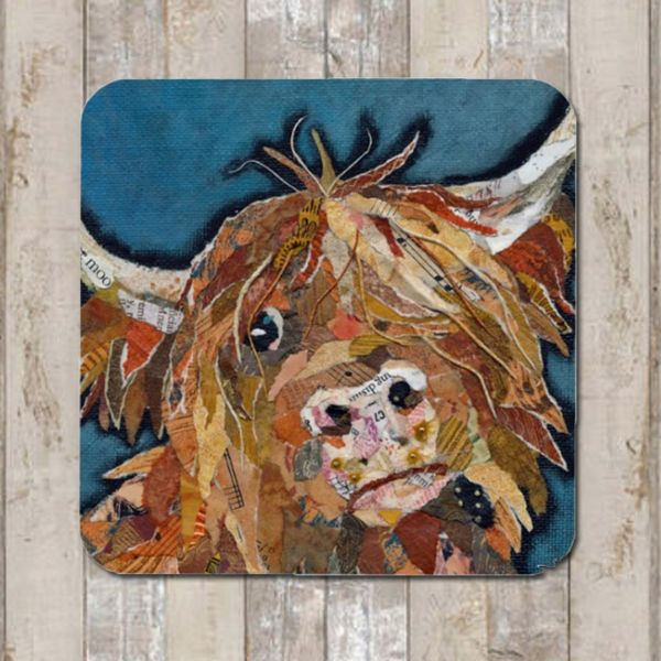 Angus Highland Cow Coaster Tablemat Placemat
