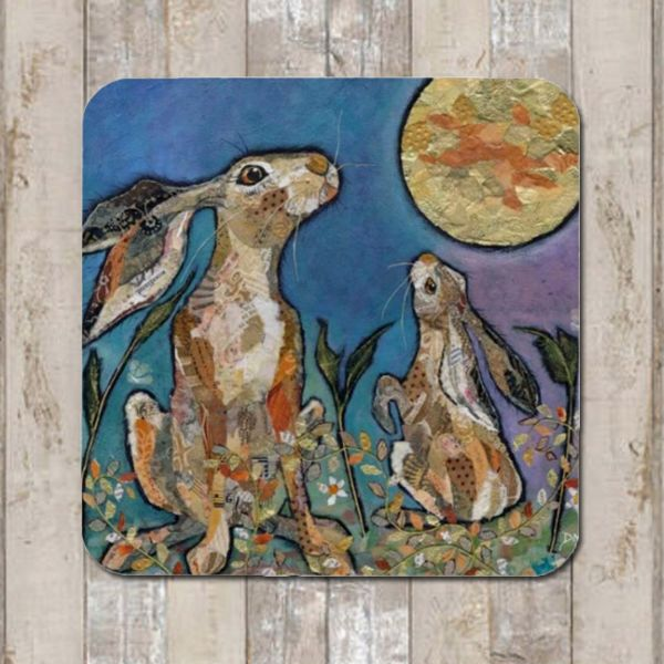 Moongazing Hare Coaster Tablemat Placemat