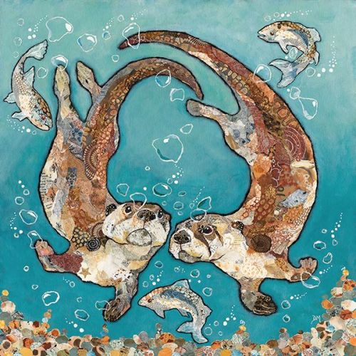 W'otter L'otter Bubbles - Embellished Print