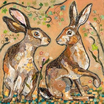 Hare's Looking at You - Embellished Print