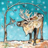 Reindeer & Bird - Large Print