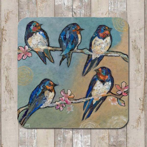 Swallow Bird Coaster Tablemat Placemat