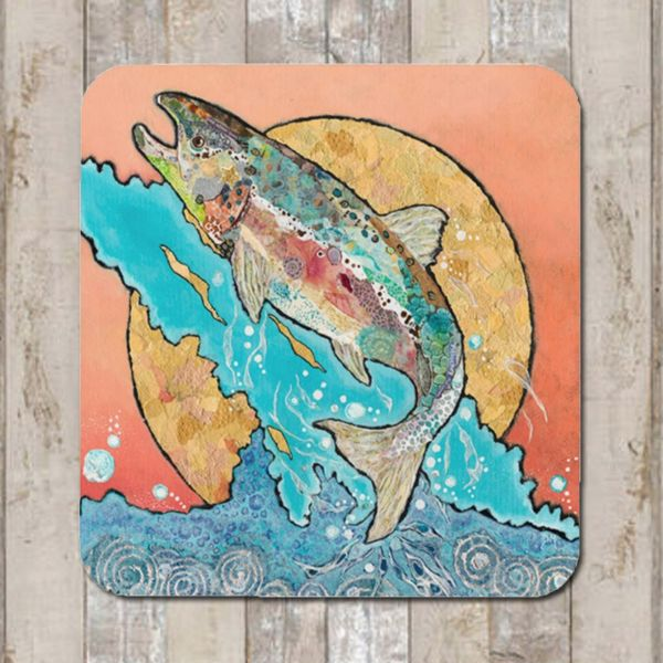 Salmon Leaping Coaster Tablemat Placemat