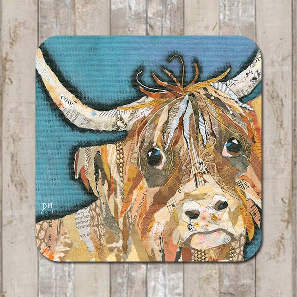Dougal Highland Cow Coaster Tablemat Placemat