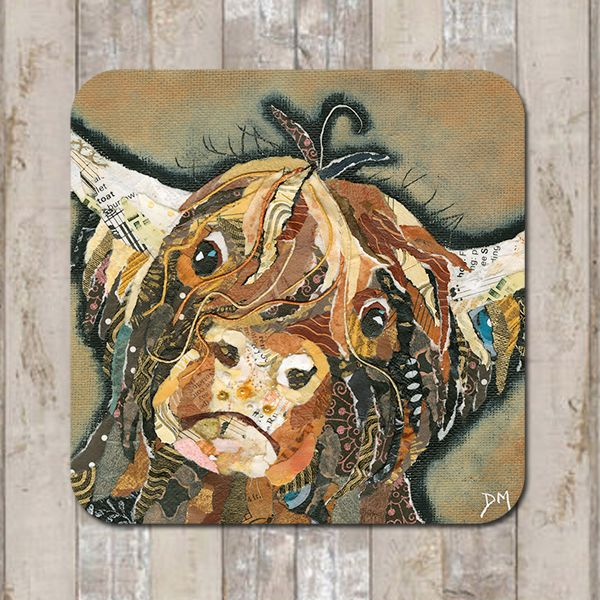 Callum Highland Cow Coaster Tablemat Placemat