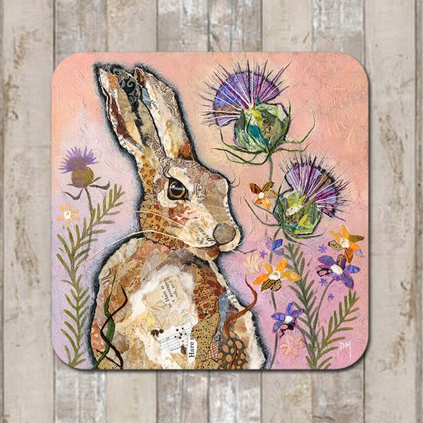 Scottish Hare & Thistle Coaster Tablemat Placemat