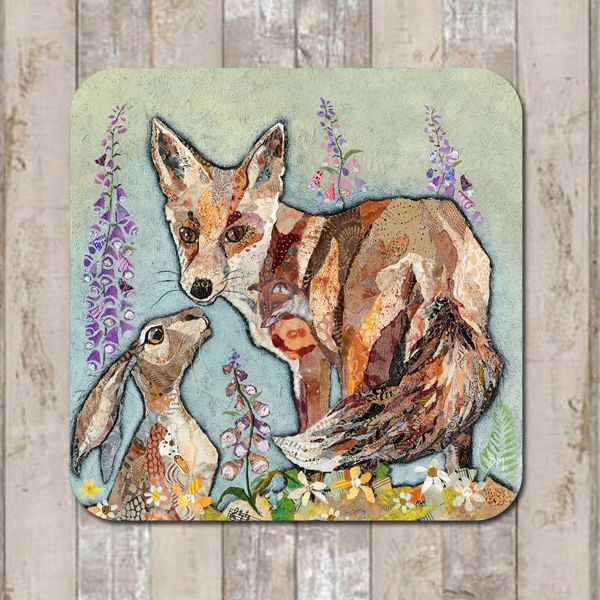 Fox & Hare Friends Coaster Tablemat Placemat