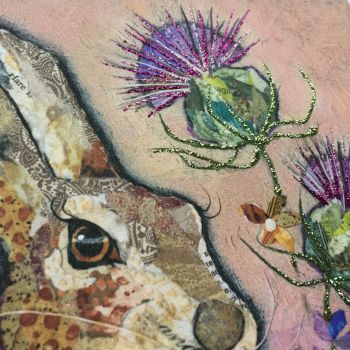 Hare & Thistles - Embellished Print