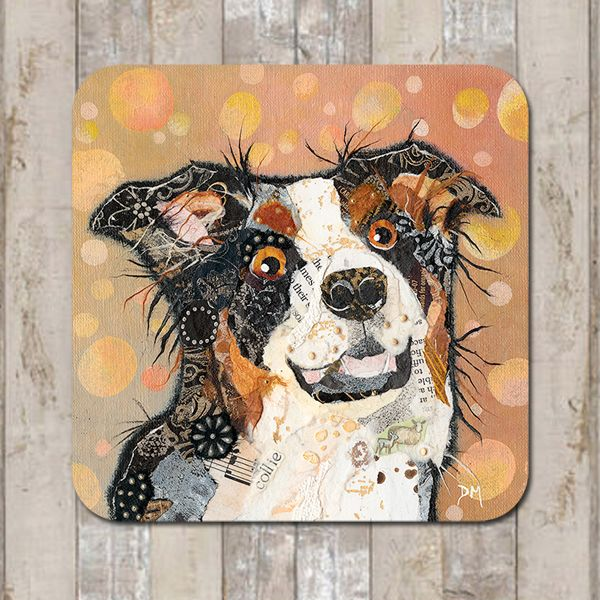 Tri-Colour Border Collie Coaster Tablemat Placemat