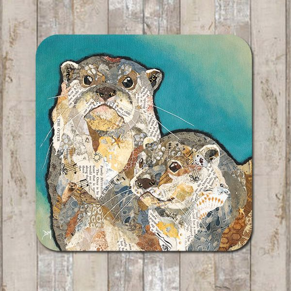 Otter Friends Coaster Tablemat Placemat
