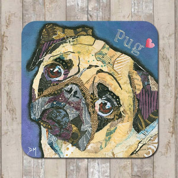 Pug Love Dog Coaster Tablemat Placmat