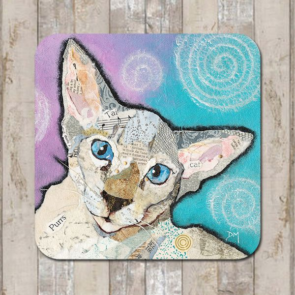 Cat Seal Siamese Coaster Tablemat Placemat