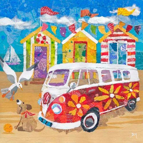 <!-- 008 -->Hippy Campervan on the Beach