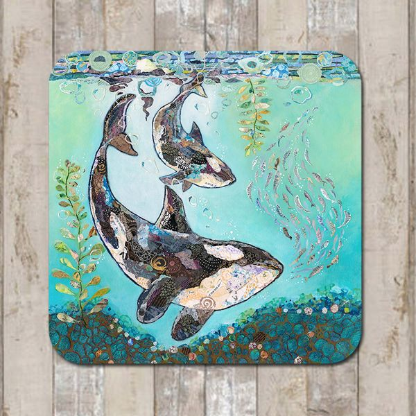 Orca Killer Whale Coaster Tablemat Placemat