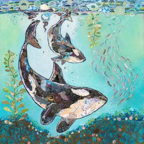 Dance with the Orca - Embellished Print