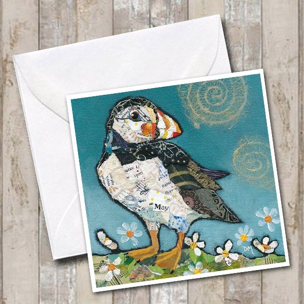 Little Puffin Art Greetings Card