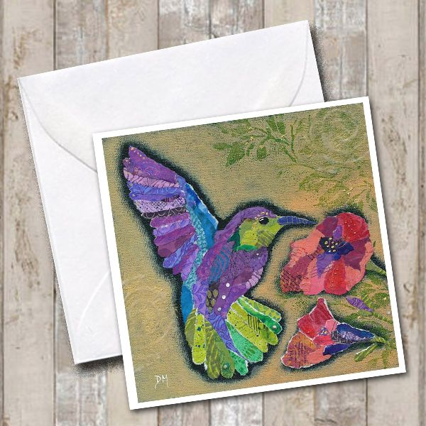 Hummingbird Art Greetings Card