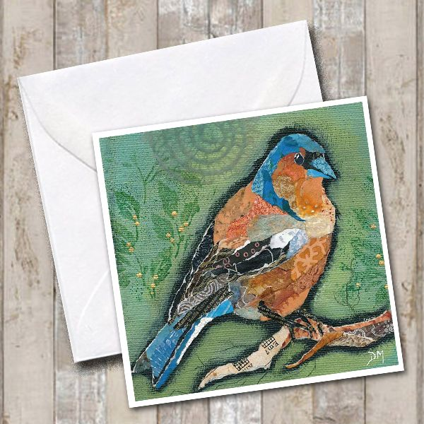 Chaffinch Art Greetings Card