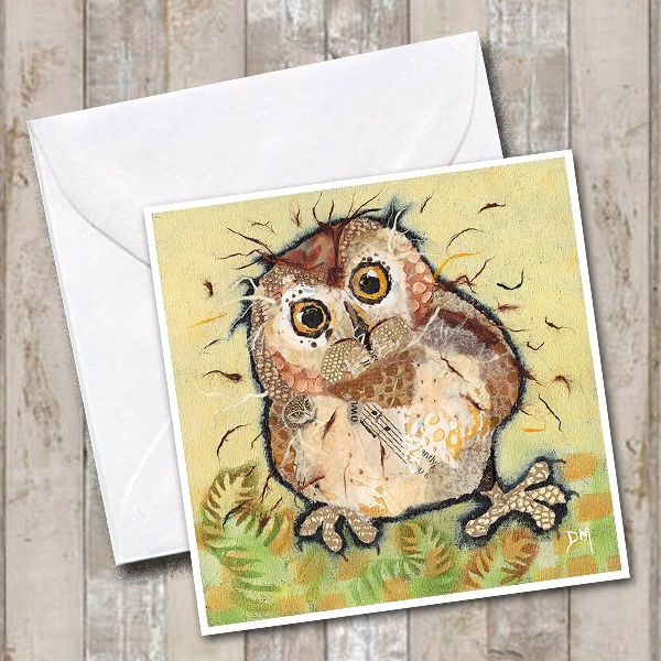 Baby Owl Greetings Card