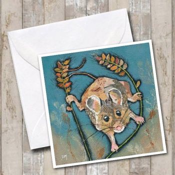 Hanging Out - Mouse Card