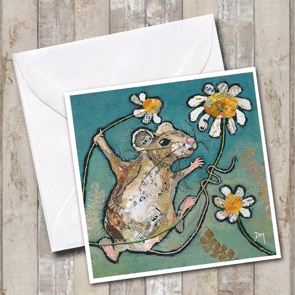 Mouse & Flower Card