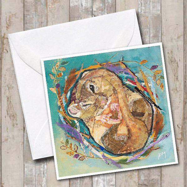 Sleeping Dormouse Art Greetings Card
