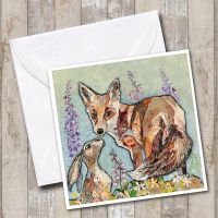 Unlikely Friends - Fox & Hare Card