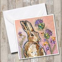 <!-- 002 -->Hare & Thistle Card