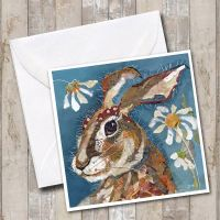 <!-- 008 --> Hare & Daisies - Card