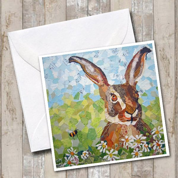 Hare in Spring Meadow - Card