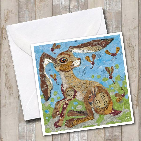 Autumn Hare Greetings Card